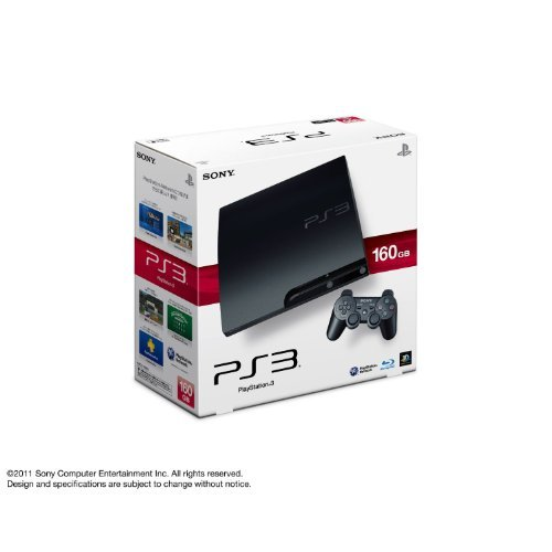 SONY PlayStation3 PS3 Console 160GB | JAPAN MODEL | CECH-3000A Charcoal Black (Japan Import) by Playstation [並行輸入品]