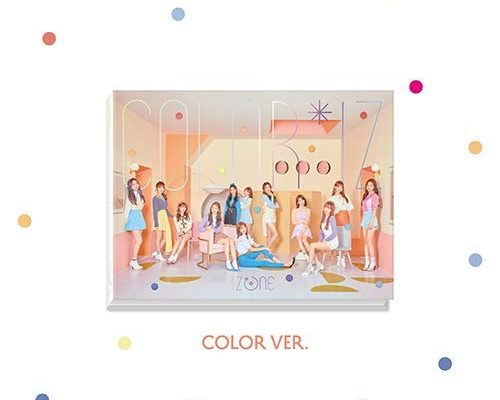 アイズワン - COLOR*IZ [Color ver.] CD+Official Photocard+6Double-Side Photocards [韓国盤]